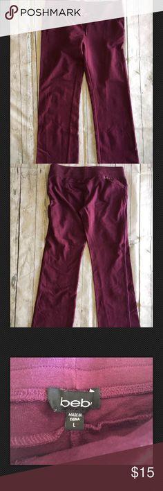 "Sale🎉Bebe Sweat Crystal Logo Purple Pants Lounge Bebe Sweat Pants Rhinestone Crystal Logo Purple Track Pants Lounge Yoga Sz L. Inseam 30"" bebe Pants Track Pants & Joggers"