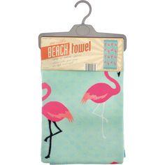 Flamingo Spot Beach Towel (1915 RSD) ❤ liked on Polyvore featuring home, bed & bath, bath, beach towels and flamingo beach towel
