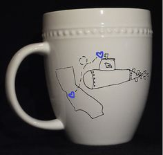 Military Love Mugs - MADE TO ORDER. $23.00, via Etsy. So cute for deployed loved ones!