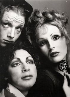 drag trailblazers.  Jackie Curtis, Holly Woodlawn and Candy Darling.