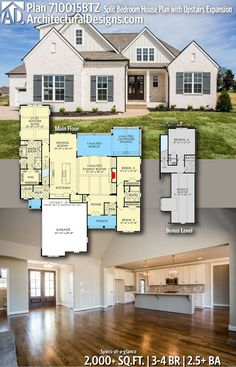 Architectural Designs Home Plan 710015BTZ Gives You 3 4 Bedrooms, 2.5+  Baths And