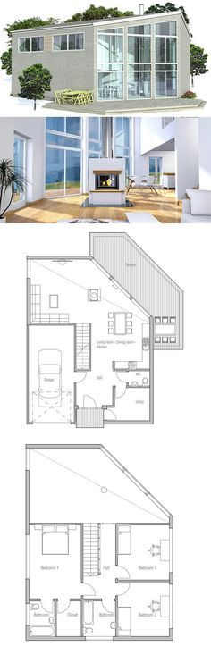 Small House to tiny lot with rooftop terrace Floor Plan from