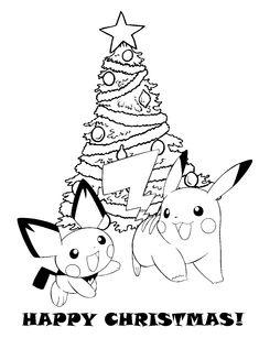 printable pokemon christmas coloring pages | POKEMON CHRISTMAS COLORING PICTURES FREE TO PRINT