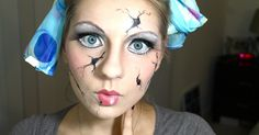 Can't decide whether to go super creepy or extra cute with your Halloween costume this year? You don't have to look any further, thanks to this roundup ofcracked doll Halloween makeup tutorials! You'll be the most terrifying, yet precious gal at eve