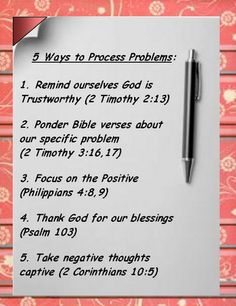 Bible Love Notes: 5 Ways to Process Problems. This is how we refocus on Jesus. Christian Life, Christian Quotes, Christian Apps, Christian Images, Christian Prayers, Christian Living, Bible Love, Little Bit, Lord And Savior