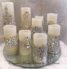 Conjunto de velas, flickering LED w Silver Christmas Decorations, Gold Christmas, Christmas Crafts, Christmas Ornaments, Candle Decorations, Wedding Decorations, Christmas Candles, Decorating Candles, Christmas Christmas