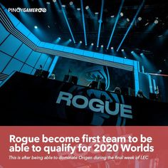 Rogue become the first team to be able to qualify for 2020 Worlds after dominating over Origen #Rogue #Worlds2020 #RiotGames #LeagueOfLegends #Pinoygamer