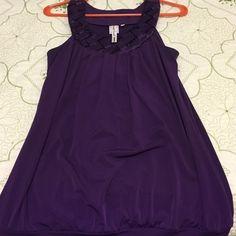 💖 Dark Purple! Dark purple blouse HeartSoul Tops Blouses