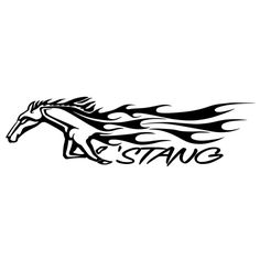 RUNNING HORSE Vinyl Decal Sticker Car Truck Van Bumper Laptop Wall Mustang Bronc
