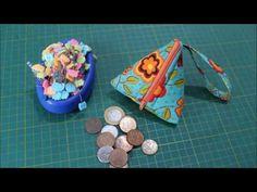 Porta moedas triangular - Passo a Passo - YouTube