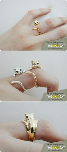 Absolutely Love These Kitty Rings <3 a brilliant accessory for all the cat lovers!