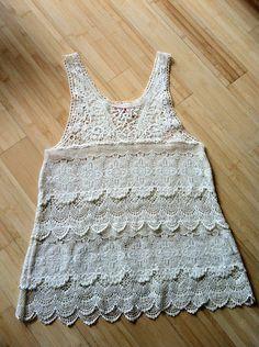 FREE PEOPLE engineered crochet lace tunic
