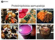 Proteiinipitoinen aamupala, smoothiereseptejä ja muita sekalaisia vinkkejä