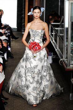 Carolina Herrera wedding gown