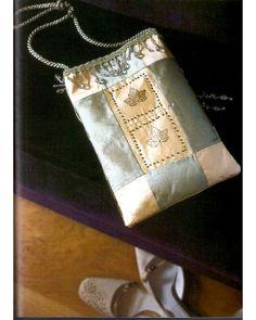 25 patchwork purses, totes, and bags. DIY tutorial. Leaf-print evening bag. Сумки, косметички, кошельки в технике квилтинг