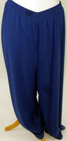 Kirsten Krog Royal Blue chiffon trousers