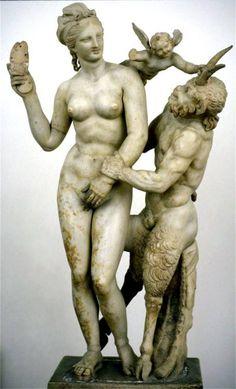 Aphrodite, Eros, and Pan, 100 BCE, found on Delos Island.