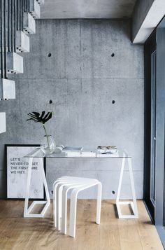 BEdesign- Lume table legs and Fan stool