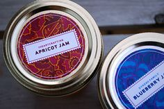 Canning jar label templates for Jams for FREE by http://www.merrimentdesign.com