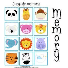 Juego de Memoria de Animales Infant Activities, Activities For Kids, Robin, Memory Games, My Little Baby, Diy Games, Paper Piecing, Classroom Decor, Preschool
