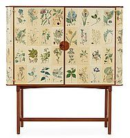 A Josef Frank 'Flora' cabinet by Svenskt Tenn Length width height 130 cm. Josef Frank, Cabinet Furniture, Big Houses, Natural History, Textile Design, Flower Art, Amazing Photography, Flora, Interior Decorating