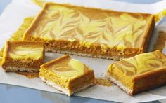 Pumpkin Swirl Cheesecake Squares Recipe by Anna Olson