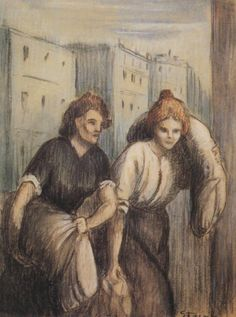 Laundresses (1897) Theophile Steinlen