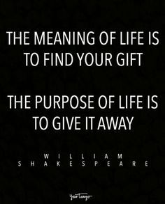 On the meaning and purpose of life.