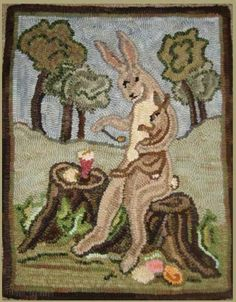 Rug Hooking Pattern  Morning Glory by Briarwoodfolkart on Etsy, $48.00