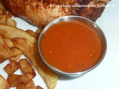 Les plats cuisinés de Esther B: Sauce B.B.Q. Sauces, Esther, Sauce Recipes, Chicken Wings, French Toast, Bbq, Breakfast, Ethnic Recipes, Tomatoes