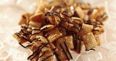 Chex Caramel Chocolate Drizzles - This easy candy snack, made with caramel, chocolate and Chex™ cereal is outstanding! #WinCoPinToWin #ChexMix