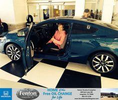 Congratulations to Bliss  Bednar on your #Honda #Civic purchase from Brandice Hendershott at Fenton Honda of Longview! #NewCar