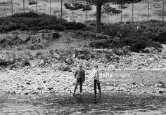 may 5, 1981--News Photo : British Royalty, River Dee, Balmoral, Scotland,...