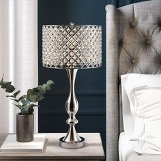 House of Hampton Zooey Mirrored 3 Drawer Nightstand Table Lamp Base, Table Lamp Sets, Grommet Curtains, Panel Curtains, Rivage, End Tables With Storage, Drum Shade, Patio, My Living Room