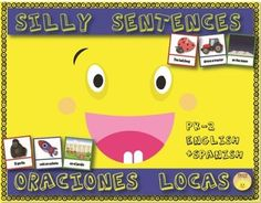 creative writing / workstation / learning center / literacy / oraciones locas / graciosas / espaol / escritura creativa / centros de aprendizaje / dual language / bilingual /PK / Kindergarten / primaria  With this set of silly sentence builders students will have a lot of fun while learning how to write simple sentences and think creatively by following a color pattern.