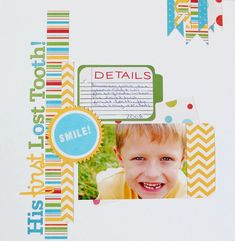 His First Lost Tooth - Scrapbook.com