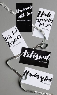 Free Printable Gift Tags For Your Handmades Plus My New Favorite Handmade Gift