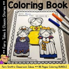 Here Are Some Fairy Tale Coloring Pages for Your Fairy Tales Unit - Fern Smith's Classroom Ideas! Literacy Centers, Writing Centers, Reading Centers, After School Tutoring, The Happy Prince, Fairy Tales Unit, Fairytale Party, Princess And The Pea, Story Starters