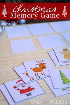 Free Printable Christmas Memory Game