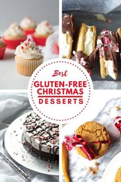 Best Gluten-Free Christmas Desserts Best Gluten-Free Christmas Desserts: From Cakes, to cookies, we've got you covered with some of the most flavorful, yet simple gluten-free desserts. via Gluten-Free Palate Gluten Free Christmas Recipes, Gluten Free Christmas Cookies, Easy Gluten Free Desserts, Gluten Free Pie, Foods With Gluten, Gluten Free Baking, Gluten Free Recipes, Snacks Recipes, Dessert Recipes