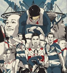 1 of 18 - Limited edition Metro Olympic London 2012 poster Group Team GB illustration by Joshua Budich