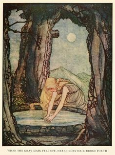 """Grimm's Fairy Tales ~ 1927 - """"The Goose Girl at the Well"""""""