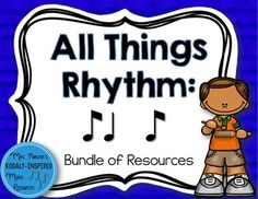 Everything you need to teach syncopation! 400+ pages of songs, activities, games, manipulatives, worksheets, and more.