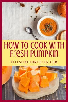 How to cook with fresh pumpkin - It's simple and easy to use fresh pumpkins to make puree. You can freeze it to save it for later use in recipes like pie, bread, and cookies. What to do with a fresh pumpkin to make a healthy meal. Great for fall and especially Thanksgiving. #pumpkin #freshpumpkin #makeitfromscratch Healthy Dishes, Healthy Recipes, Overwhelmed Mom, Allergy Free Recipes, Freeze, Food Network Recipes, Pumpkins, Sweet Potato, Meal Planning