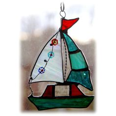 Sailboat Suncatcher Stained Glass  £12.00