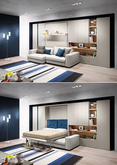 Tango Sofa wallbed system by Clei Smart Furniture, Space Saving Furniture, Home Furniture, Furniture Design, Furniture Ideas, Furniture Makeover, Office Furniture, Bedroom Furniture, Modern Furniture