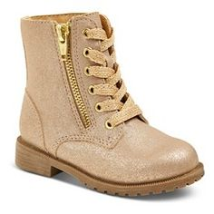 Toddler Girls' Diedre Fashion Boots - Gold : Target