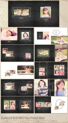 Chalkboard 10x10 WHCC Press Printed Album