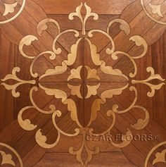 Custom Inlay parquet tile, ID404. Check pictures of other inlays, wood and stone medallions, borders and parquet from Czar Floors.