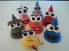SESAME STREET Party Hats per each  Bert Ernie by AnnaliseJDesigns, $2.50